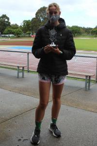 Under 14 women's winner - Teagan Zurawel