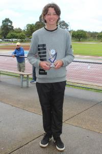 Under 14 boys runner-up - Cooper Patton
