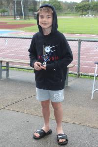 Under 8 boys - runner up Mattias Servin