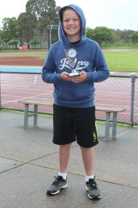Under 10 boys - winner Kaden Servin