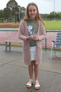 Under 11 girls – runner-up Samara Edwards
