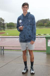 Under 14 boys - winner Seth McCleish