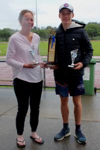 Norm McKenzie Award - Emma Peters ( seniors) and Caleb Kilpatrick (little aths)
