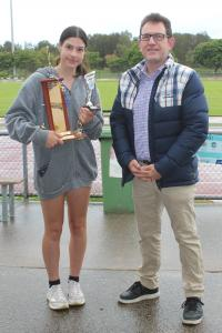 Peter Anderson Trophy - Tiana Boras with Peter Anderson