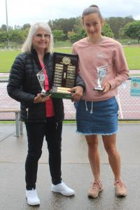 President's award (presented by Mary McDonald) - Claudia Paul (little aths), Max Jones (seniors, absent)
