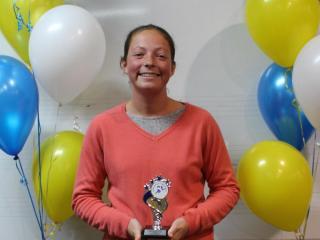 Open women winner Emma Peters.
