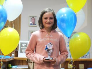 U10 girls winner Josien.