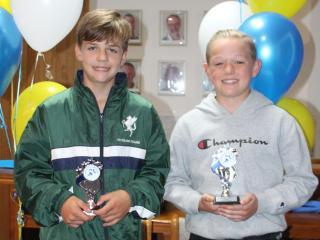 U11 boys winner Kaden and runner-up Oscar.