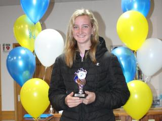 U15 girls winner, and overall girls little aths winner, Teagan.