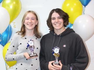 U18 women winner Bethany and runner-up Tyler.