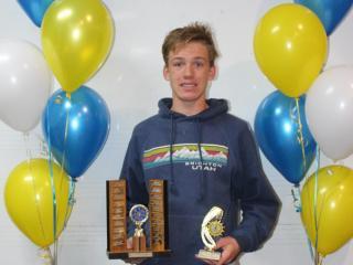 Winner of the John Bedggood Memorial Trophy, Caleb.