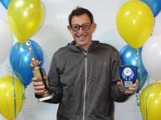 Winner of the Maurie Giddings Award for best clubperson, Andrew Webb.