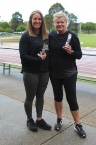 Women 50+ - Winner Jacinta Burns, runner-up Karen Kirby