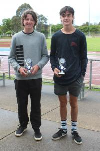 Under 14 Boys – winner Noah Burns, runner-up Cooper Patton