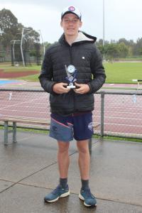 Under 13 boys - winner Caleb Kilpatrick